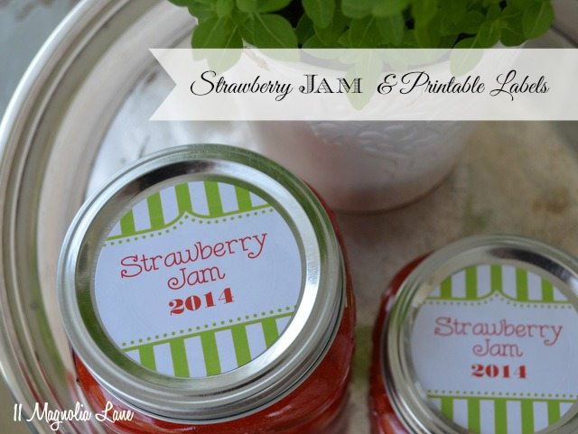 Homemade Strawberry Freezer Jam  Free Printable Jar Labels 11