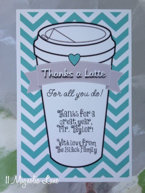 End of Year Teacher Gift Idea--\