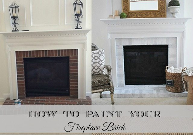 How-To Paint Your Brick Fireplace Surround | 11 Magnolia Lane