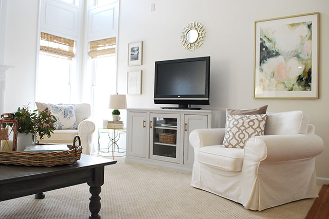 Affordable Art Work and Decorating Trick for Two-Story Rooms 11 - artwork for living room
