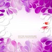 purple floral vector backdrop. purple 3d design ...