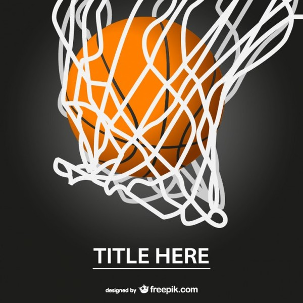 Basketball Free Template Design Free Vector 123Freevectors