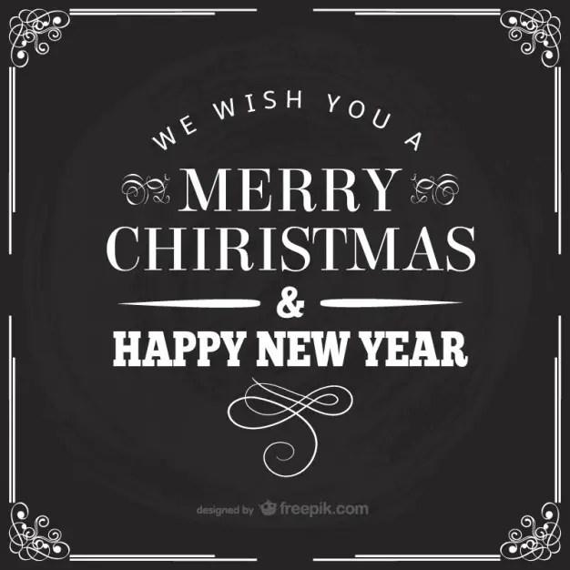 Black and White Retro Christmas Card Free Vector 123Freevectors - christmas cards black and white