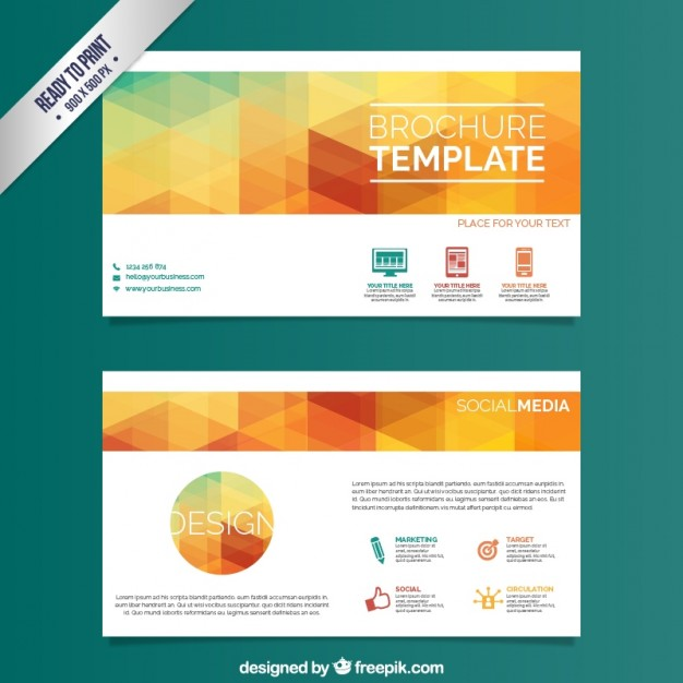 Company Brochure Template Vector Free Download Template Corporate
