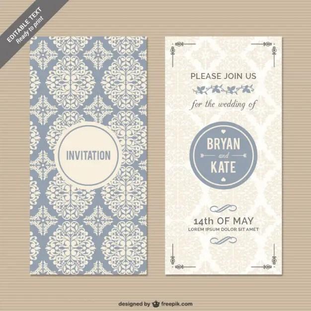 50+ Elegant Wedding Invitation Vectors Download Free Vector Art