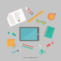 Office Supplies Flat Set Free Vector | 123Freevectors