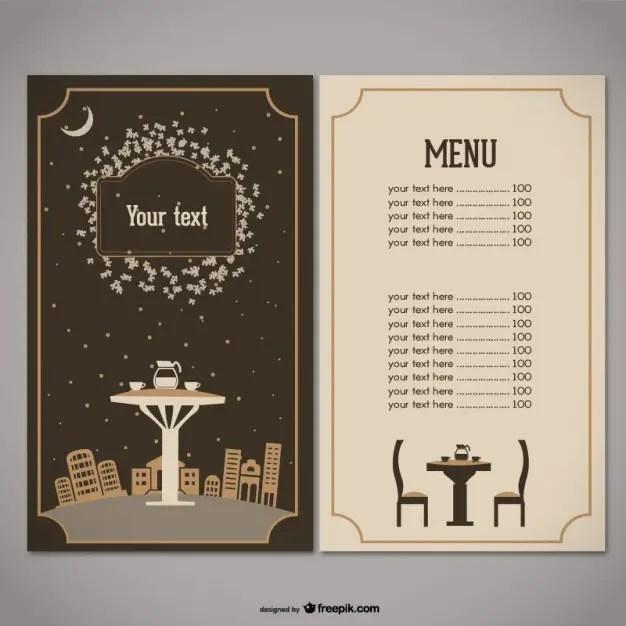 free downloadable restaurant menu templates - Jcmanagement.co