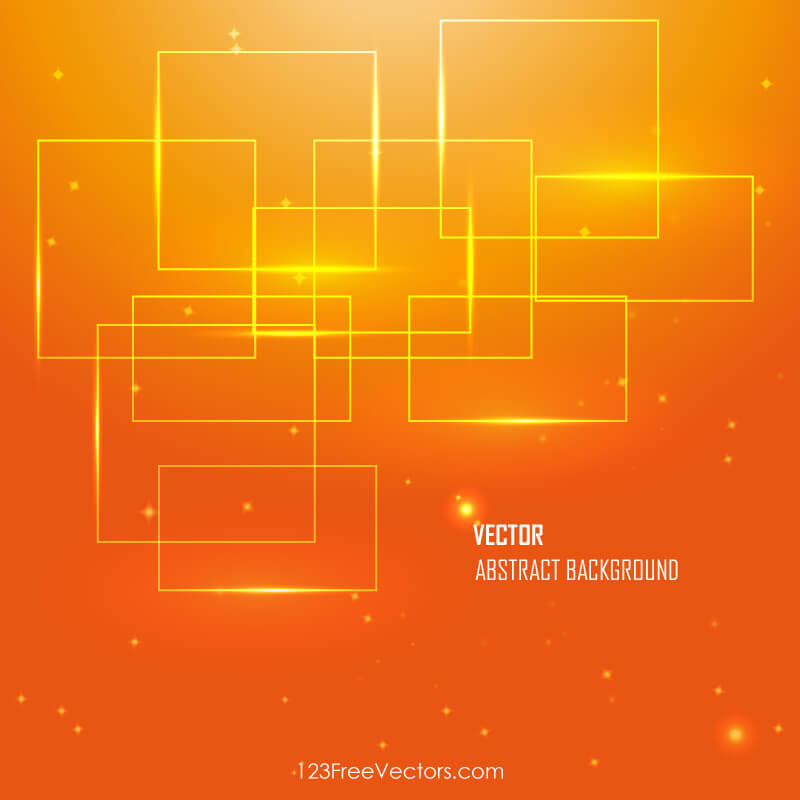 Patrick Star 3d Wallpaper Orange Abstract Background Vector Image 123freevectors