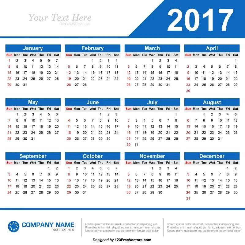 70+ 2017 Calendar Vectors Download Free Vector Art  Graphics - 12 calendar