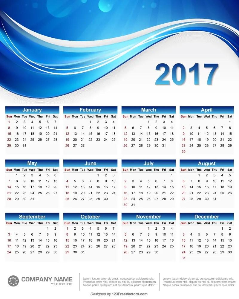 Free Printable Retro Calendars Yearly Calendar 2015 Printfree 2017 Wall Calendar Printable 123freevectors