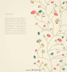 471-vector-retro-style-floral-card-background
