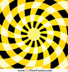 545-colorful-optical-illusion-yellow-background-vector