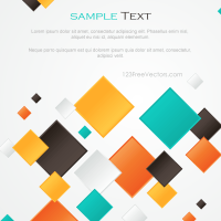 Multicolor Abstract Square Background Design | 123Freevectors