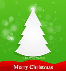 394-white-christmas-tree-green-background-vector-card