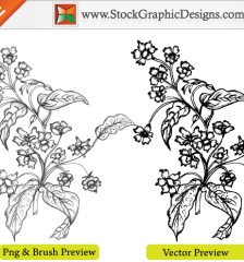 041-free-vector-sketchy-hand-drawn-flowers-l