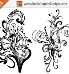 044-hand-drawn-floral-elements-free-vector-illustration-l