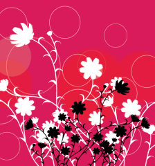 107-black-flowers-in-red-background-vector-free