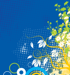 266-flower-decoration-blue-background-vector-graphics