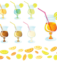 032-cocktail-with-lemon-slice-vector-free