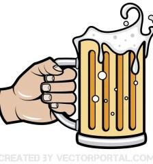 066-hand-holding-beer-mug-vector-image