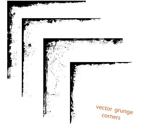 Vector Grunge Corner Designs Free Download | 123Freevectors