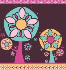 237-magic-floral-tree-card-design-vector