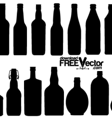 208-free-vector-bottle-silhouettes