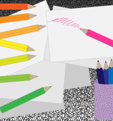 356-free-colored-pencil-vector-art