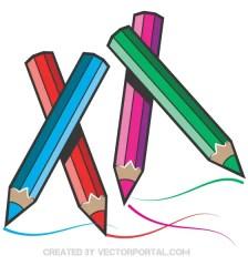 509-color-pencils-vector-art