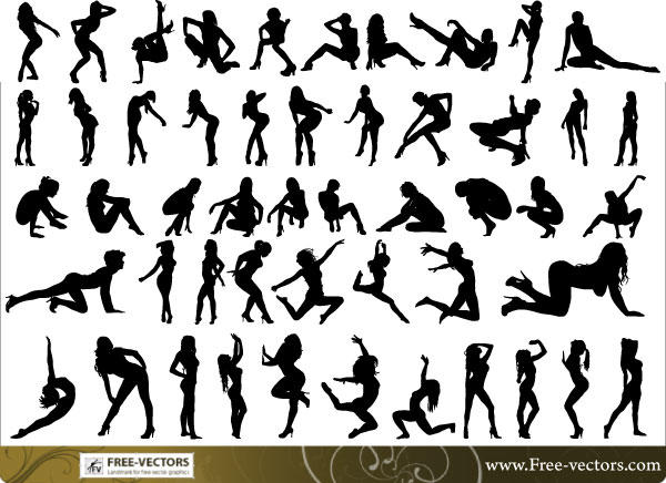 People Silhouettes Free Vector 123Freevectors