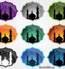 050-mosque-icons-free-vector-set