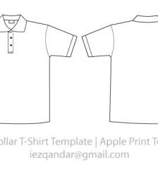 Collar t shirt template vector 123freevectors for Collar shirt design template