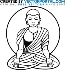 buddhist-monk-graphics-free-vector-1384