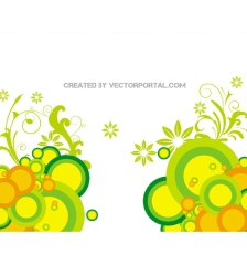 floral-abstract-circles-background-free-vector-341