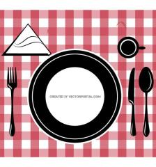 table-setting-image-free-vector-738