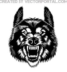 wolf-head-with-a-grin-free-vector-2727