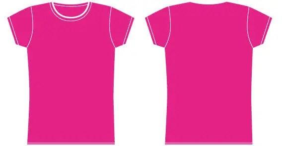 Girls t-shirt template 123Freevectors - t shirt template