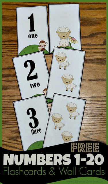 FREE Number Flashcards and Wall Cards 123 Homeschool 4 Me