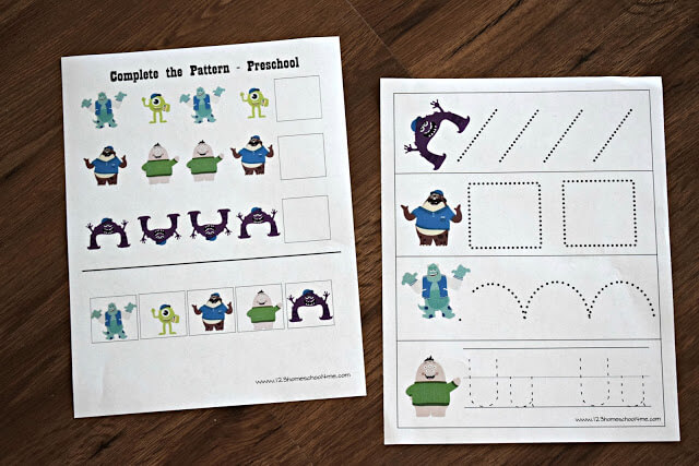 Monsters Inc Worksheets 123 Homeschool 4 Me