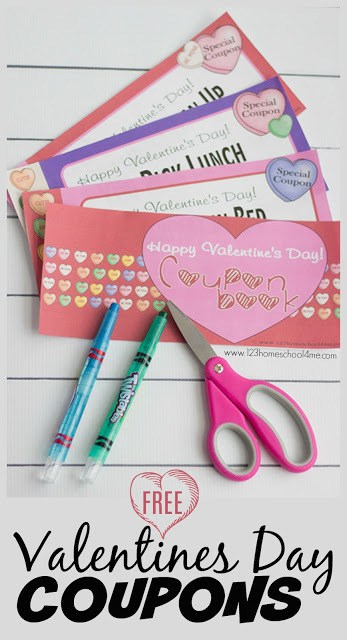 FREE Printable Valentines Day Coupons 123 Homeschool 4 Me