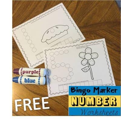 Bingo Marker Number Worksheets 123 Homeschool 4 Me