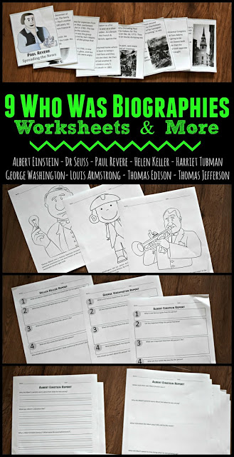 Who Was Books Printable Worksheets 123 Homeschool 4 Me