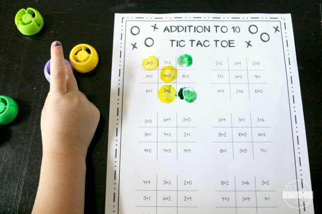 FREE Addition Tic Tac Toe Math Game 123 Homeschool 4 Me