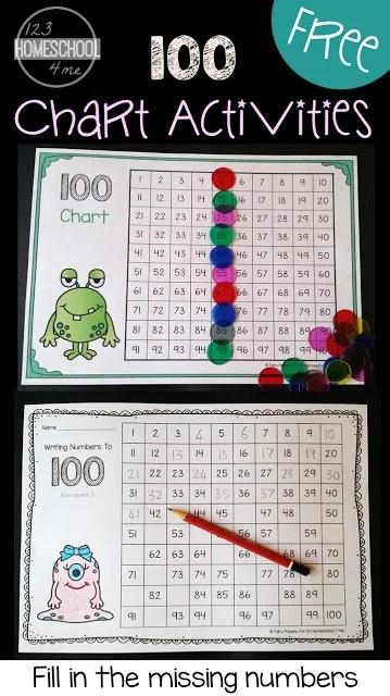 FREE Hundreds Chart Worksheets 123 Homeschool 4 Me
