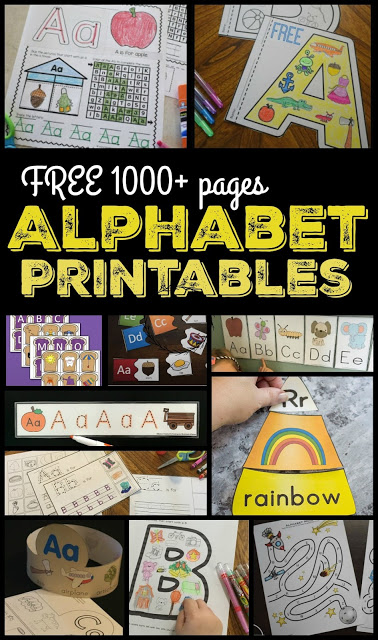 FREE Alphabet Printables - over 1000 pages! 123 Homeschool 4 Me