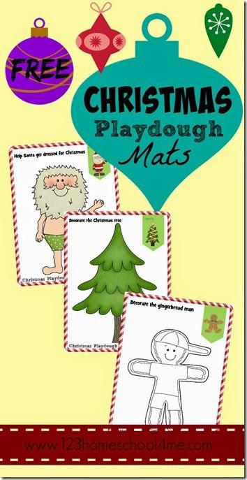 FREE Christmas Playdough Mats 123 Homeschool 4 Me