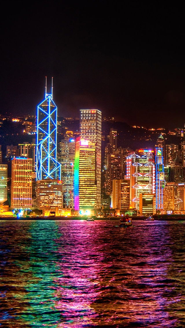 Iphone Wallpaper Fitness Quotes Hong Kong City At Night
