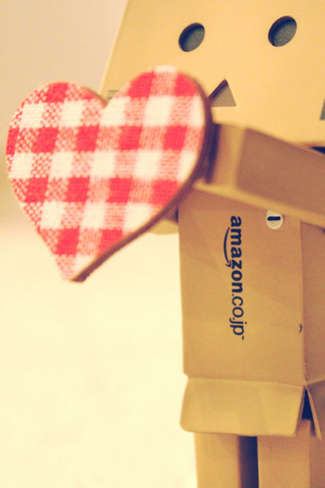 Cute Couple Phone Wallpaper Love Danbo Heart