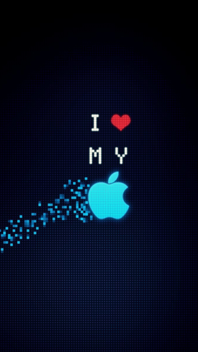 Wallpaper Girly Iphone I Love My Apple
