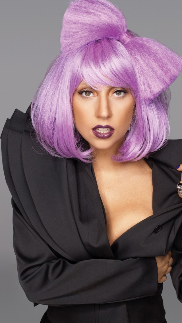 Girly Quotes Wallpapers For Mobile Lady Gaga Purple Hair